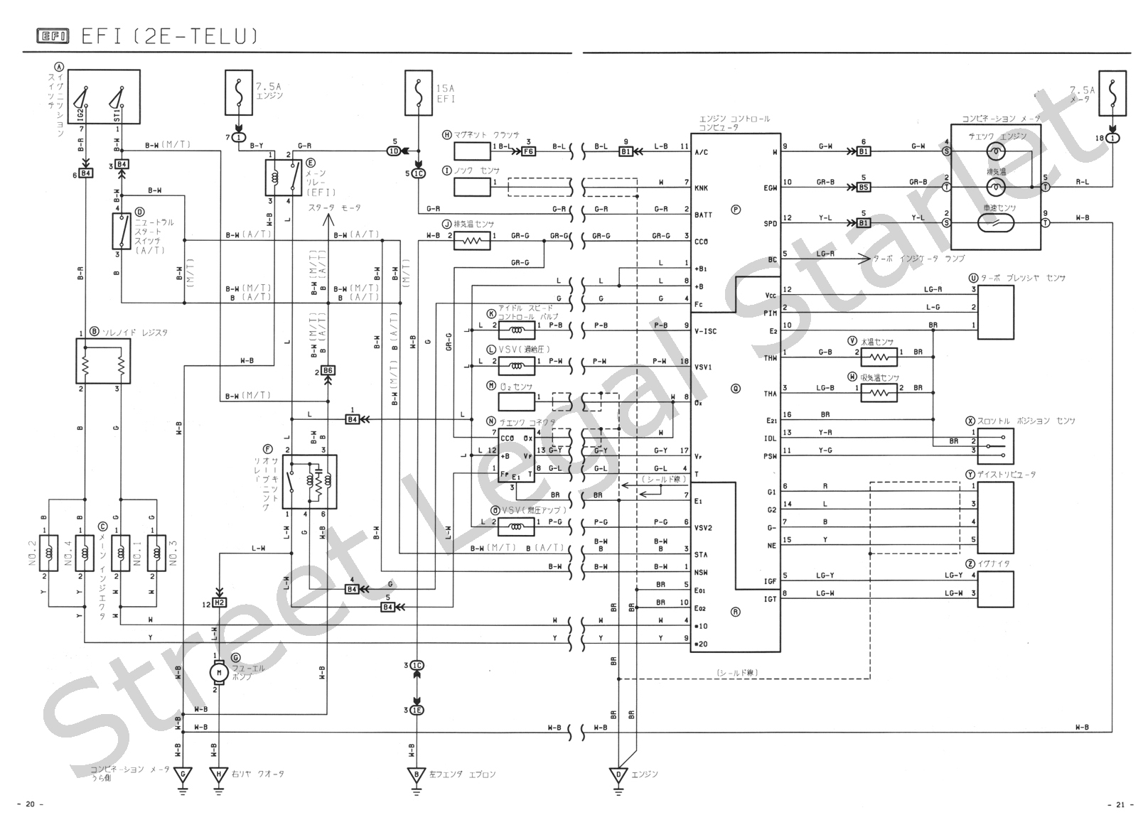 SLS EP71 Wiring diagram 2e telu index of wiki ecu wiring diagrams toyota starlet ep82 iginition wiring diagram at n-0.co